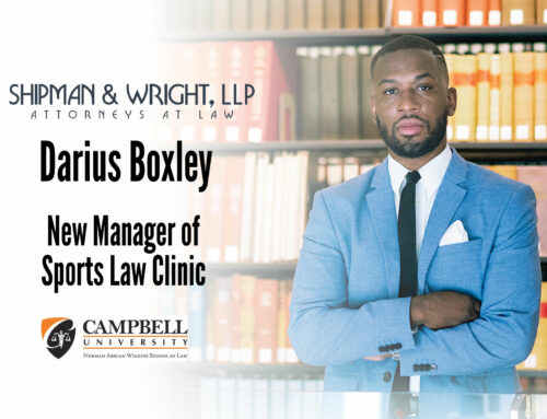 Darius Boxley named manager of sports law clinic